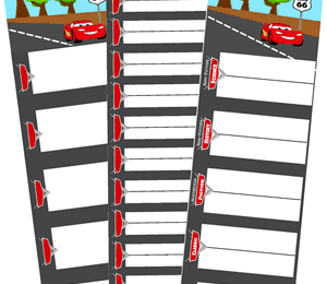 FREE Cars Library Book Logs
