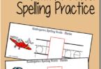 Kindergarten Add-A-Vowel Spelling Practice