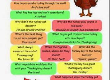 Thanksgiving Jokes for Kids