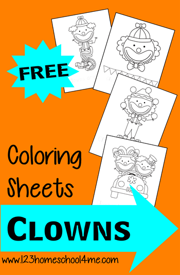Free Circus Clown coloring pages #coloringpages #preschool