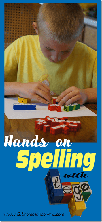 Hands on Spelling Practice with Lego (perfect for fun homeschool spelling tests too) #spelling #alphabet