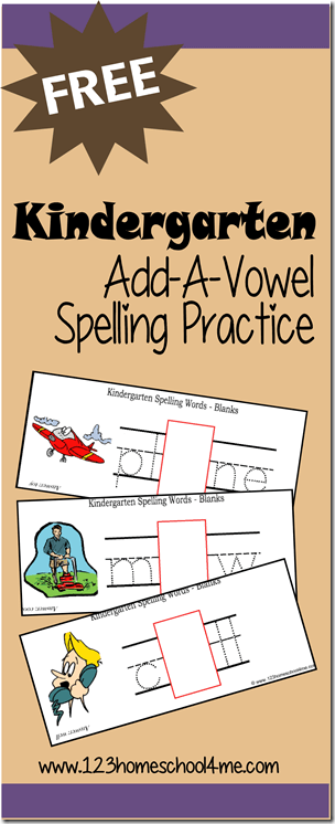Kindergarten - FREE printable to help Kindergarten kids learn about sticky vowels as they make simple kindergarten spelling words to trace and sound out with the help of picture clues.