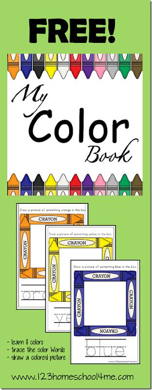 My Color Book #toddler #preschool #colors
