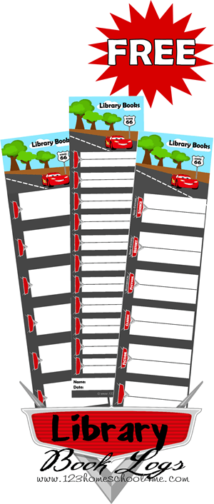Help kids get excited about reading and keep track of the books you want your child to read in school this year with these super cute Disney Lightening McQueen inspired, Cars Themed Booklogs. These free printable reading logs are perfect for kindergarten, first grade, 2nd grade, 3rd grade, 4th grade, 5th grade, and 6th grade students.