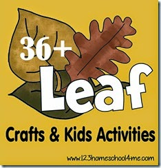 36 Leaf Crafts & Kids Activities #fallcraftsforkids #preschool