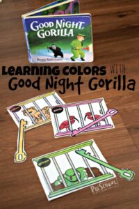Learning Colors with Goodnight Gorilla Color Matching Printable