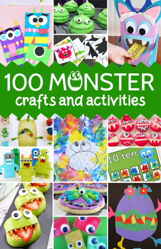 Monsters don't have to be scary, in fact these monster crafts andactivities are all totally friendly and super fun! So many cute monster craft ideas for toddlers, preschoolers, prek, kindergartners, grade 1, and grade 2 students. Use these with a monster theme, weekly them, for Halloween, or as a fun educational book extension.