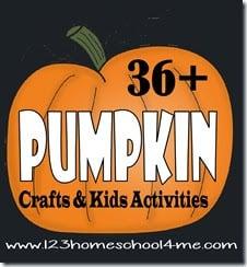 36 pumpkin crafts & kids activities