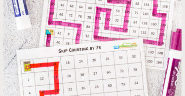 Practice skip counting for kids with these handy, FUN skip counting mazes. These skip counting worksheets are a great way to work on fluency as children learn to count by 2, count by 3, count by 4, count by 5, count by 6, count by 7, count by 8, count by 9, and count by 10. Pick theskip counting maze that works best for your kindergarten, first grade, 2nd grade, 3rd grade, 4th grade, 5th grade, and 6th grader. Simply print the skip counting worksheets pdf and get ready to have fun with skip counting practice.