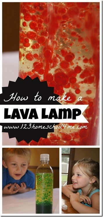 how to make a lava lamp science experiment #homeschool #education