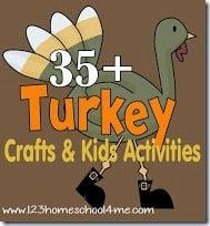 turkey crafts and kids activities