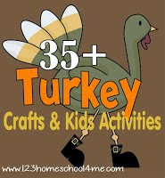 35 turkey crafts & kids activities #fall #craftsforkids #play