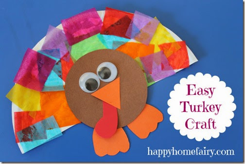 Easy Turkey Craft for Preschoolers perfecte for November or Thanksgiving