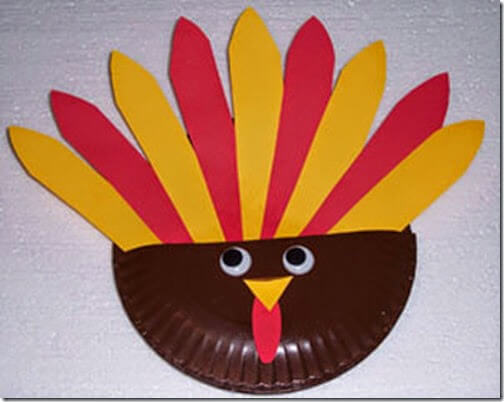 Paper Plate Turkey for Toddler and Preschool