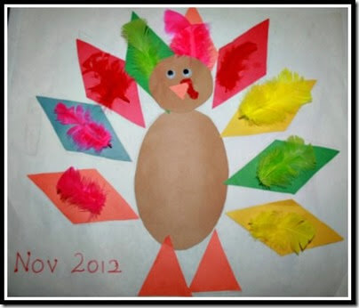 Shape Turkey for Preschoolers