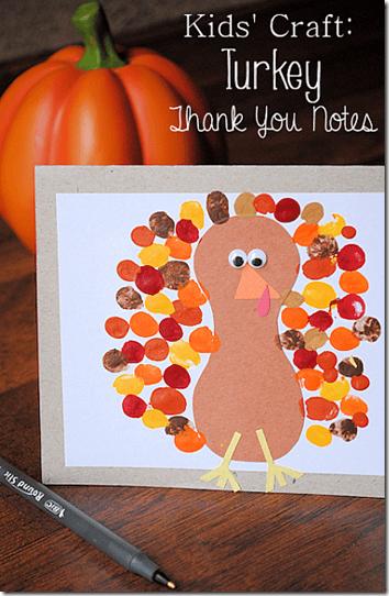 Preschool Turkey Card Craft