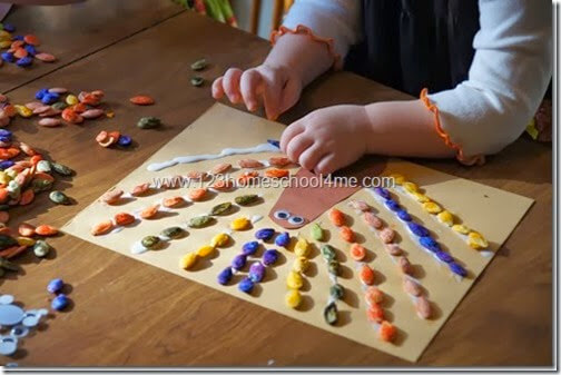 Pumpkin Seed Turkey Craft for Preschoolers