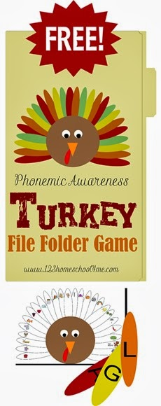 FREE Alphabet Turkey File Folder Game for Preschool & Kindergarten #alphabet #preschool #kindergarten