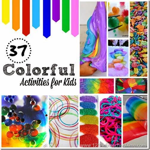37 Colorful Activities for Kids #kidsactivities #preschool #kindergarten