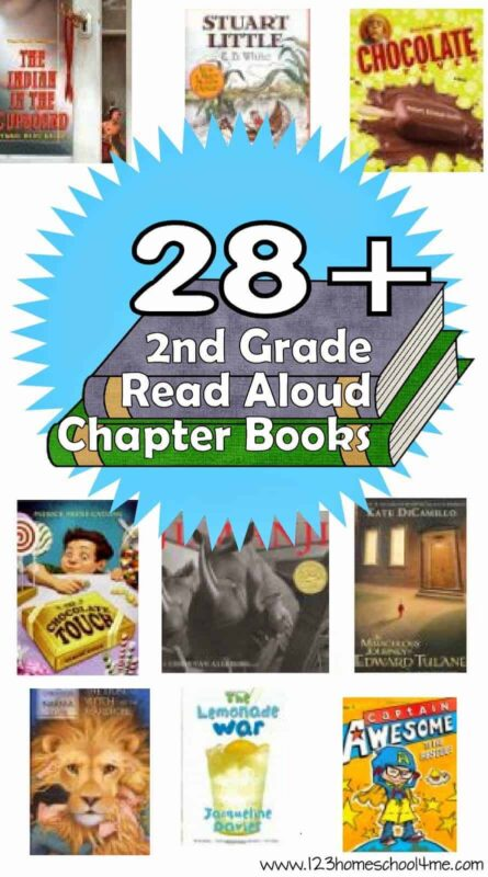 28 Chapter Books for 2nd Grade - so many engaging second grade books students will love reading! So many wonderful plots, rich vocabulary, and great stories in this book list #2ndgradebooks #2ndgrade #secondgrade