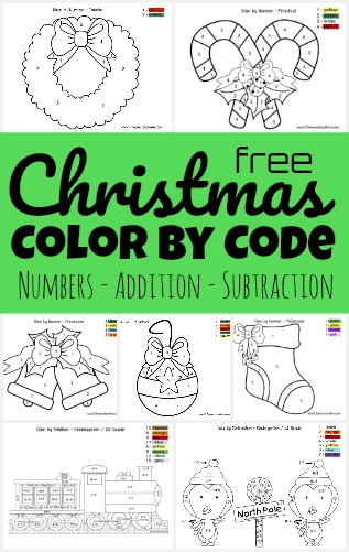 Kids will love practicing number recognition, following directions, and adding numbers with these super cute christmas color by number worksheets. These holiday color by code math worksheets include several levels (including Christmas Color by Addition) to make them perfect for Christmas math with toddler, preschool, pre-k, kindergarten, first grade, and 2nd grade students. Simply download pdf file with Christmas color by number printables and you are ready for some fun!