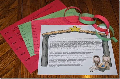 Memroize Luke 2 as a Family Free Printable