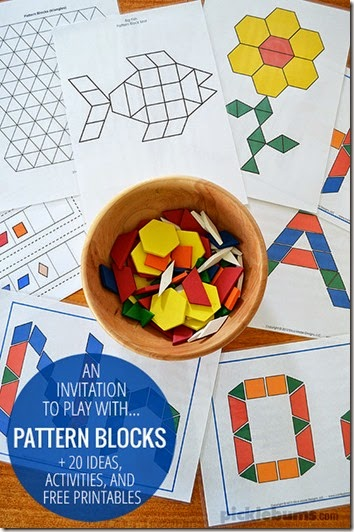 photo about Printable Pattern Blocks named 20 Absolutely free Habit Block Sets 123 Homeschool 4 Me