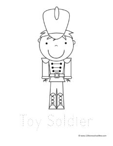 toy soldier in uniform with tall hat