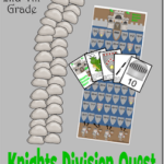 Make practicing division fun for elementary age kids with this fun, engaging FREE Knights Quest Division Game. LOW PREP and resubale!
