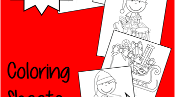 Santas Helpers Christmas Coloring Sheets