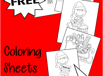Santas Helpers Christmas Coloring Sheets