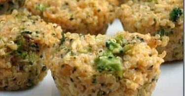 Broccoli Cheddar Quinoa Bites Recipe