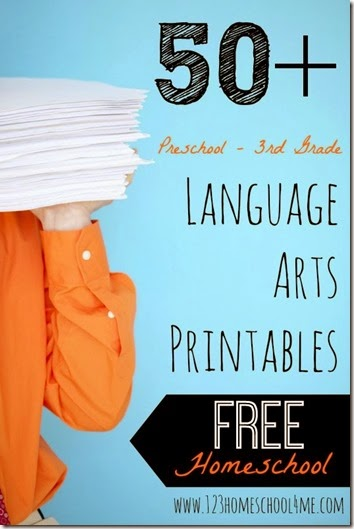 free language arts printables