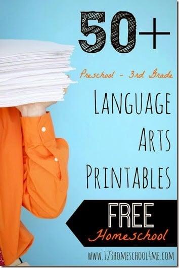 free language arts printables