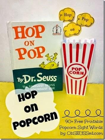 hop on pop - FREE Sight Word Game #sightwords #homeschool #education #preschool #kindergarten #1stgrade