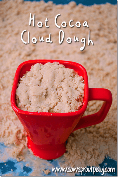 hot cocoa cloud dough #play #sensory #preschool