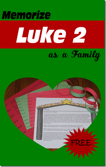 Do something meaningful with your family this Christmas season by memorizing Luke 2 for kids. Simply download our pdf file with Luke 2 printable to help your family read and memorize the Christmas story with the birth of Jesus. This is such a fun Christmas activity for kids! Use this simple method to help families with kindergartners, elementary age kids, middle school kids, high schoolers to memorize Luke 2 together.