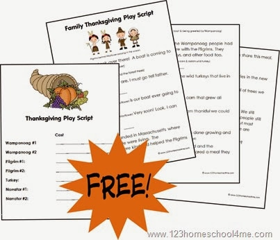 thaanksgiving play including script, costume suggestions, and more for families