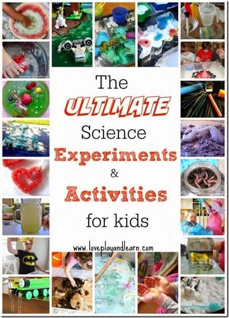 Over 70 science experiments for kids #science #scienceforkids #scienceisfun #preschool #kindergarten #homeschool