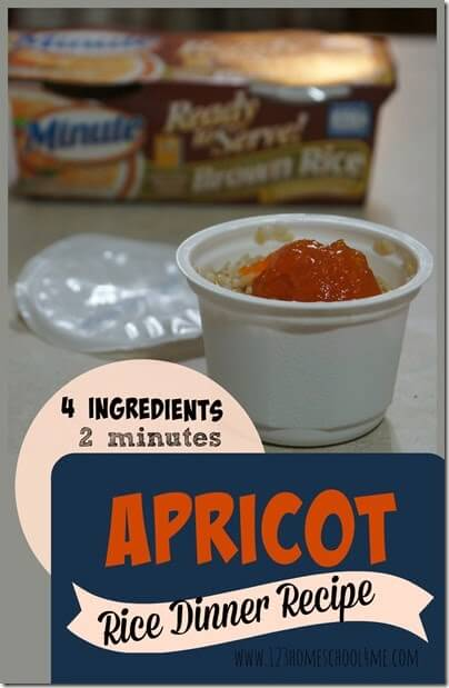 Apricot Rice Dinner Recipe with Minute® Ready to Serve Rice - make healthy, EASY, portable to go dinner in under 2 minutes!