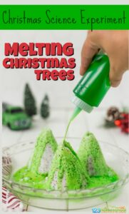 This magicalMelting Christmas tree project is sure to bring some magic and fun into your day this holiday seasons! Try this simple, easy Christmas ScienceExperimentswith preschoolers, kindergartners, toddlers, and grade 1 students to sneak in some fun Christmas Learning! This Chemistry Christmas tree is such a funChristmas activity for kids to try this holiday season!