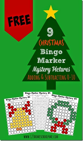Christmas Math Worksheets for Kids - These really fun math practice worksheets for 1st grade, 2nd grade, and 3rd grade make math fun. As kids solve the addition and subtraction equations they stamp the circle to reveal a mystery picture. Perfect for extra math practice or homeschooling kids.