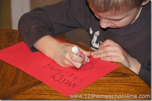 December Christmas Writing Activities for kids
