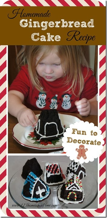 Gingerbread Cake Recipes - This is not only the most delicious Christmas Gingerbread you'll eat, but it is part of our families Christmas tradition! Each year our kids eagerly look forward to decorating & eating these yummy Christmas Kids Activities! #christmas #gingerbread #yummy