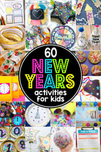 funnew years activities for kids and super cute New Years Crafts for kids to get ready to countdown to the new year on December 31. Get ready for a fun, memorable New Years Eve celebration with your family with these 60 New Years Activities for Kids! We've got new years eve for familiesideas for kids of all ages from toddler, preschool, pre-k, kindergarten, elementary age students from first grade, 2nd grade, 3rd grade, 4th grade, 5th grade, 6th grade, middle schoolers, and more! Which of thesenew year's games for kids will you try this 2020?