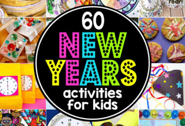 fun new years activities for kids and super cute  New Years Crafts for kids to get ready to countdown to the new year on December 31. Get ready for a fun, memorable New Years Eve celebration with your family with these 60 New Years Activities for Kids! We've got new years eve for families ideas for kids of all ages from toddler, preschool, pre-k, kindergarten, elementary age students from first grade, 2nd grade, 3rd grade, 4th grade, 5th grade, 6th grade, middle schoolers, and more! Which of these new year's games for kids will you try this 2020?