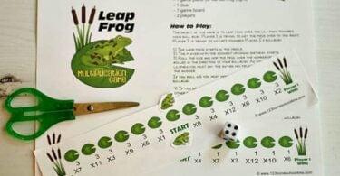 Leap Frog Multiplication Game