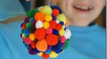 Colorful Pom Pom Ornament Craft