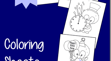 FREE New Year's Eve Coloring Pages