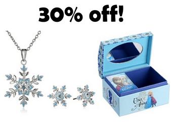 30% off Disney Frozen jewlery set and jewlery box for girls